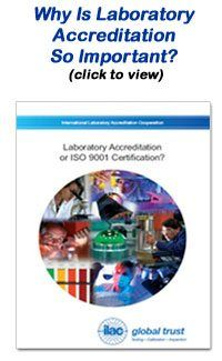 JM Test Systems Calibration Laboratories are accredited laboratories.