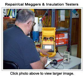 Repair/calibrate meggers and insulation testers.