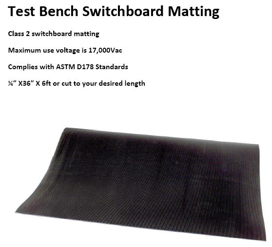 Electrical Test Bench Switchboard Matting