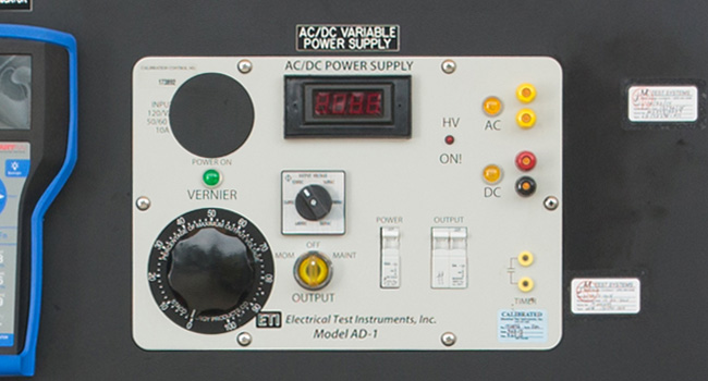 ETI Variable AC/DC Power Supply 0-560VAC/0-7.2A & 0-480VDC/0-7.2A