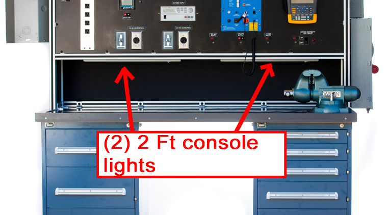 Under console lamps