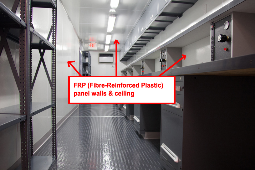 FRP panel walls & ceiling in calibration container