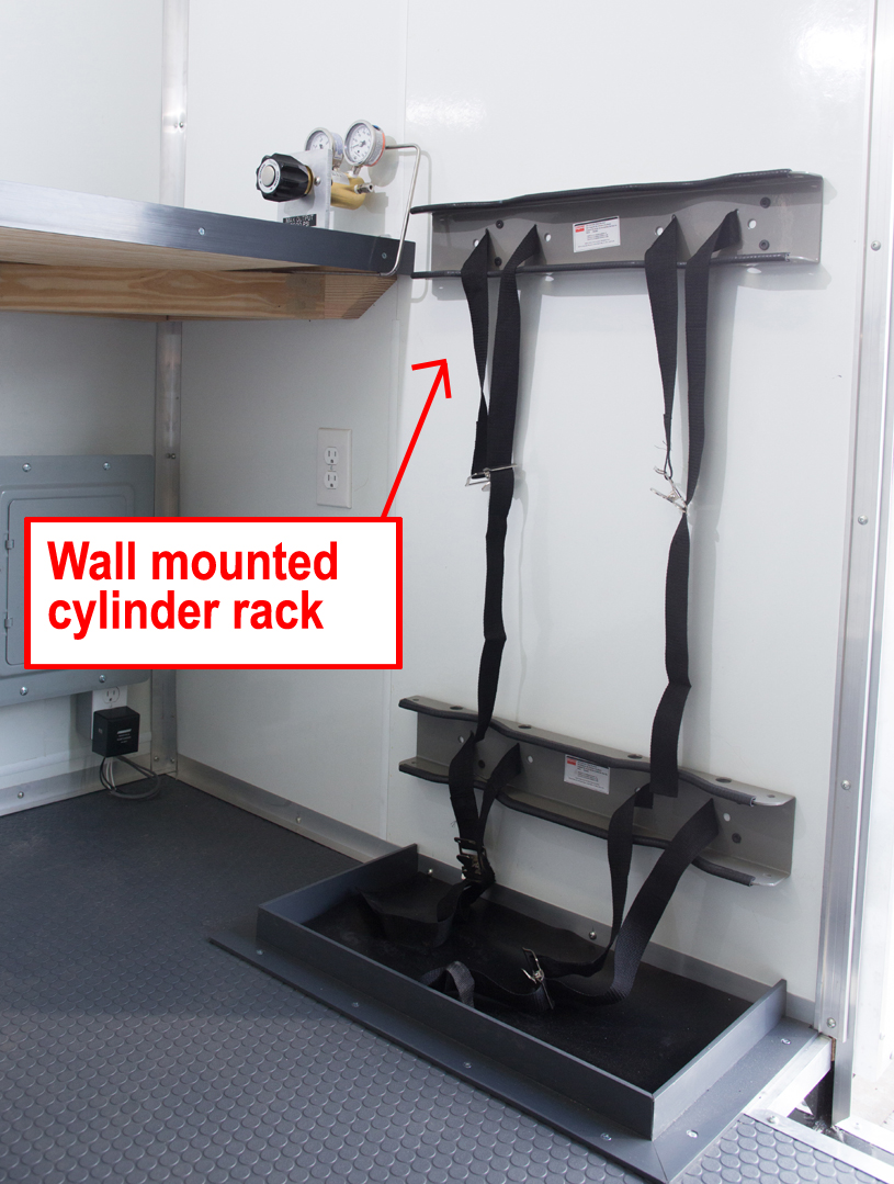 Wall Mounted Cylinder Rack (For Cylinders Out in the Open)
