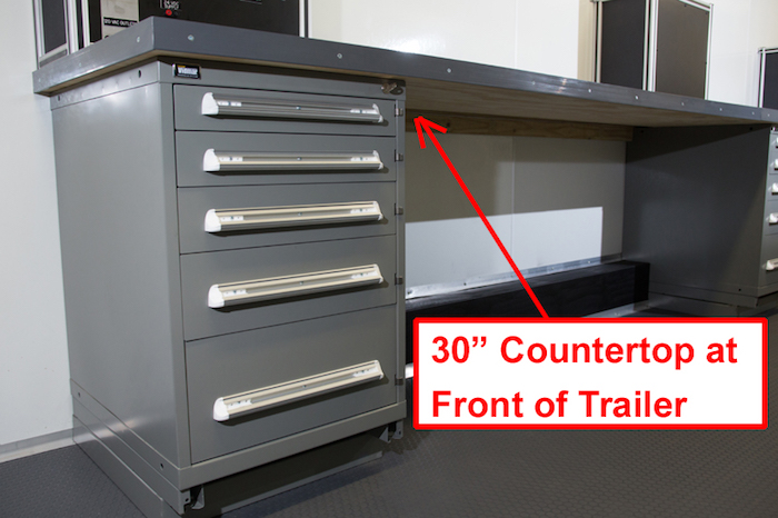Custom Trailer Counter Front