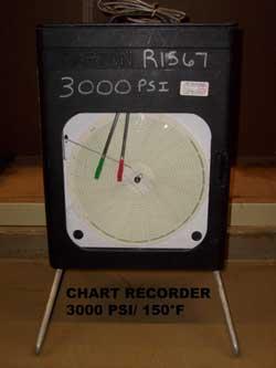 ITT Barton 242E-3000# x 0-150F Pressure and Temperature Chart Recorder