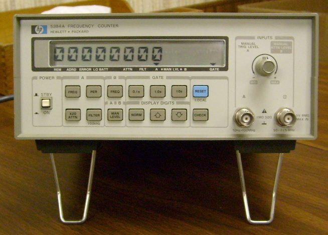 Agilent Frequency Counter : Agilent hp a frequency counter hz to mhz
