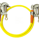 Salisbury 2299 Single Grounding Assembly w/ Serrated Aluminum ''C'' Clamp and 6 ft Cable