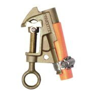 Salisbury 4200 Bronze ''C'' Type Grounding Clamp with Curved Lower Jaw - V Thread