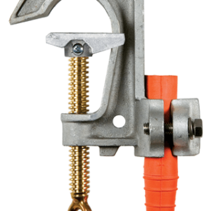 Salisbury 4240 2.4'' Aluminum ''C'' Type Grounding Clamp with Smooth Jaw and Flat Lower Jaw - Acme Thread