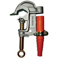 Salisbury 1924 Mounted 2.4'' Aluminum ''C'' Type Grounding Clamp with Smooth Jaw and Flat Lower Jaw - Acme Thread