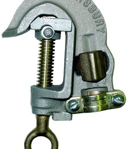 Salisbury 24466 1.25'' Aluminum ''C'' Type Grounding Clamp with Serrated Jaw - Spring Loaded - Acme Thread