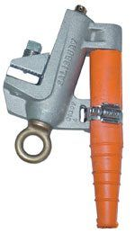 Salisbury 24441 Aluminum Grounding Clamp with Flat Jaw - Acme Thread - Grade 5