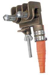 Salisbury 2577 Heavy Duty Bronze ''C'' Type Grounding Clamp - Flat Jaw