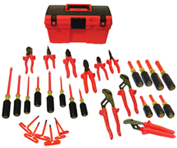 30 Pc Insulated Electrician Tool Package