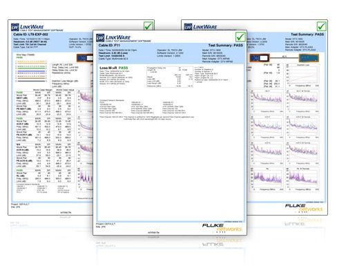Fluke Networks Linkware Cable Test Management Software