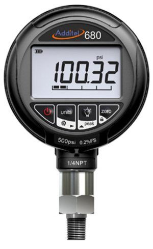 Additel 680 Series Digital Pressure Gauges  -15 psi to 0 psi  0.25% FS Accuracy