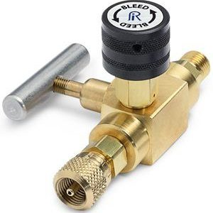 Block & bleed valve - male Quick-test inlet x female Quick-test outlet, brass