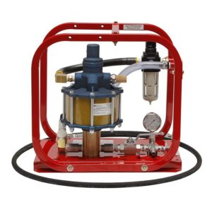 Rice HP-1/55 Pneumatic Hydrostatic Test Pump with pressures up to 5,500 psi