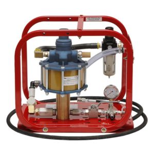 Rice HP-25/35 Pneumatic Hydrostatic Test Pump with pressures up to 3500 psi