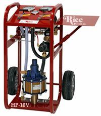 Rice HP-10V Pneumatic Hydrostatic Test Pump with Pressures up to 10,000 PSI