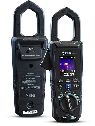 Flir Cm174 Imaging 600a Ac Dc Clamp Meter With Infrared
