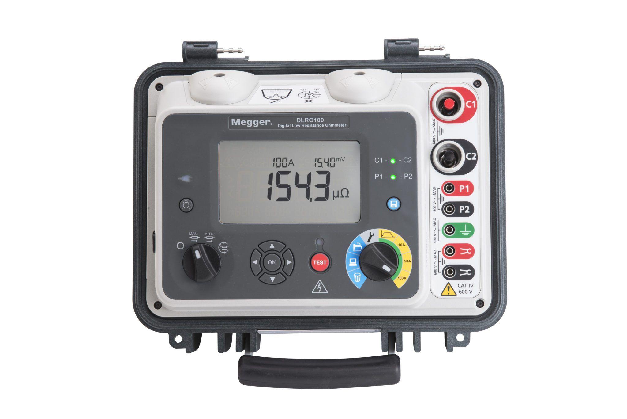 Ohmmeter Good Measurements And A High Low : Megger dlro digital low resistance ohmmeters u sales rent