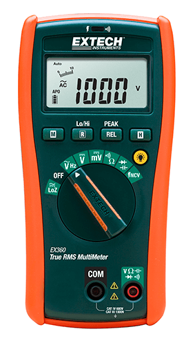Extech EX360 Electrical Multimeter with Non-Contact Voltage Detector