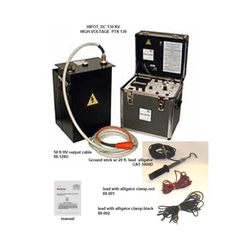 High voltage pts 130 0 130 kvdc 10 ma dc hipotmegohmmeter test pts130 high voltage pts130 rental unit accessories publicscrutiny Choice Image