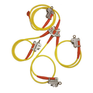 Salisbury 21190 Ball and Socket Clamp 4 Way Cluster 20 Yellow Cable