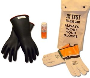 Glove kits for high voltage gloves