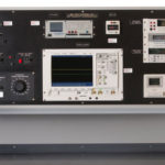 Electronic test bench console