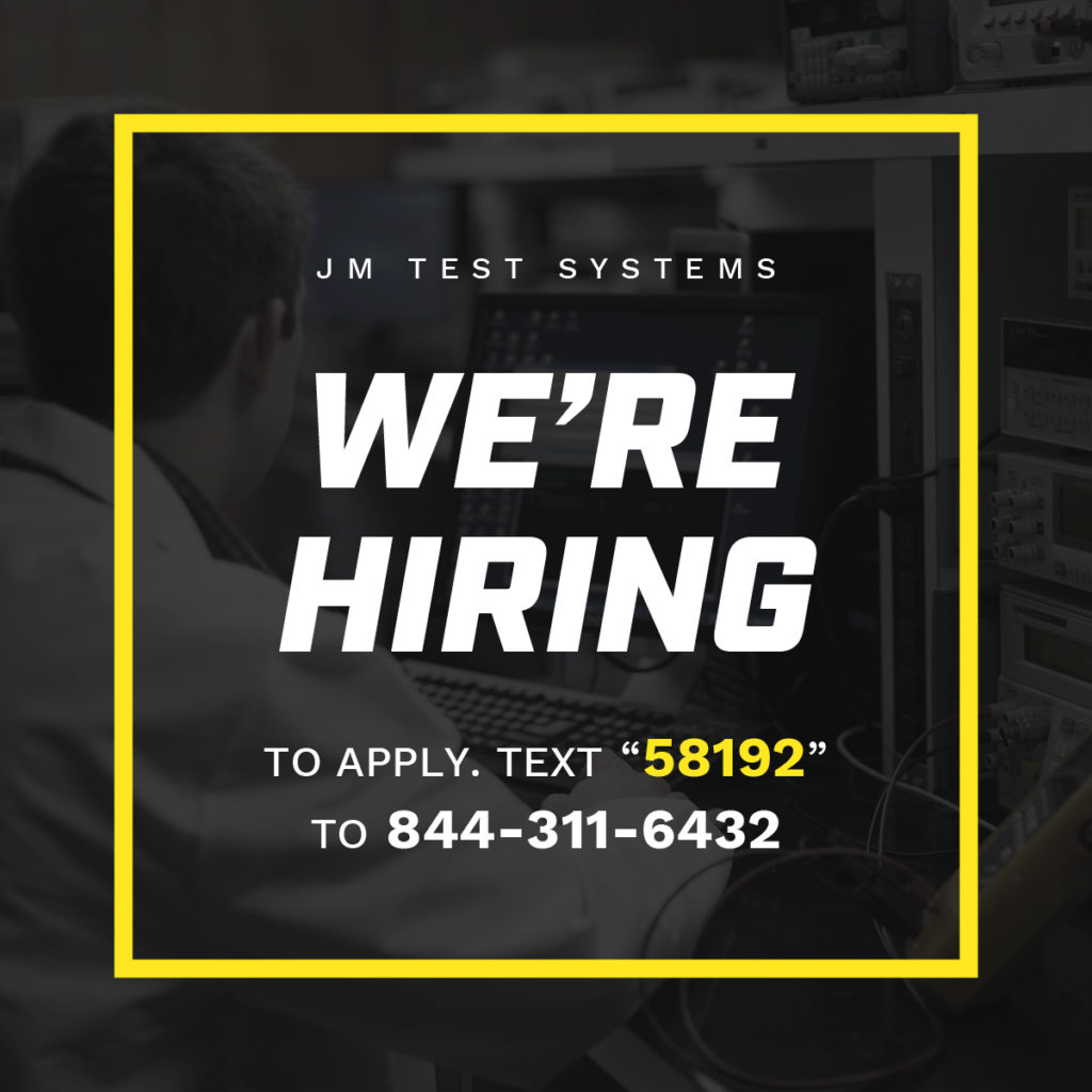 JM Test Jobs and Careers Now Hiring