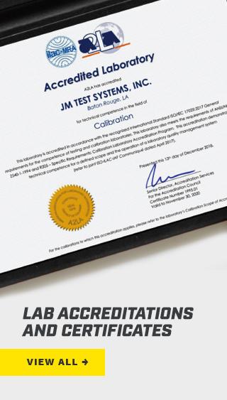 A2LA Accredited Laboratory