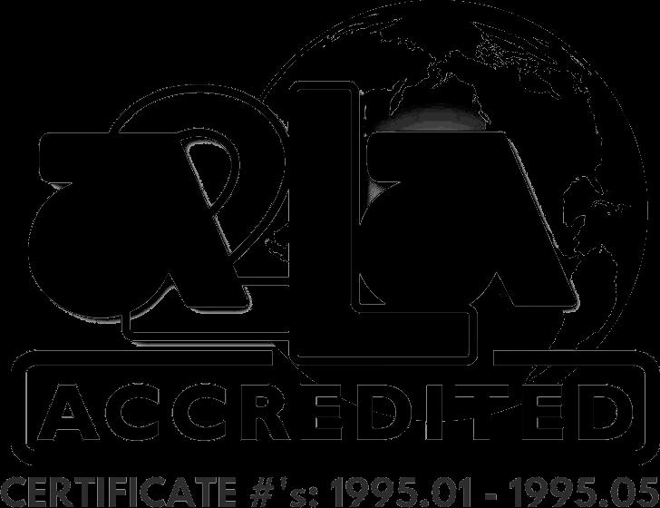 A2LA Accredited Calibration Service